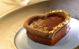 Картинка heart, love, шоколад, пирожное, еда, sweet, chocolate