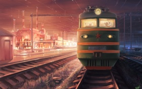 Картинка станция, железная дорога, stalker, сталкер, Поезд на ЧАЭС