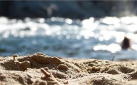 Картинка песок, вода, блики