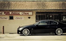 Картинка чёрный, бмв, BMW, black, 335i, 360 three sixty forged, 3 series
