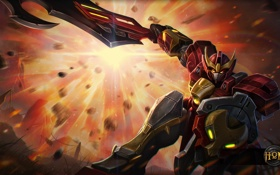 Обои робот, art, Kane, Heroes of Newerth, Invader, Invader Kane