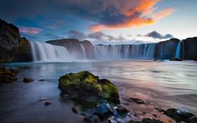 Обои природа, водопад, Исландия