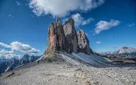 Картинка горы, камни, Италия, скалы, Доломитовые Альпы