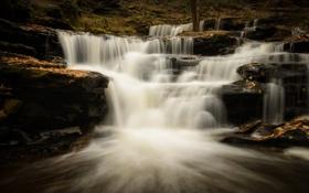 Картинка осень, водопад, каскад, Pennsylvania, Ricketts Glen State Park