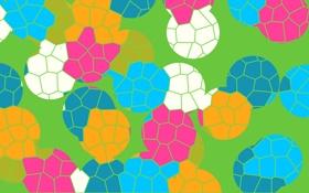 Обои трава, узор, ячейка, вектор, мяч, цвет
