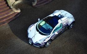 Обои veyron, bugatti, grand sport, фарфор, l or blanc, белое золото