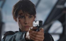 Картинка пистолет, команда, агент, Marvel, супергерои, раны, Мстители