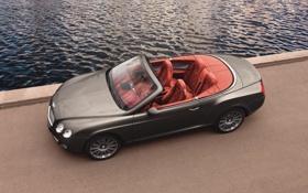 Обои Вода, Авто, Bentley, Continental, Причал, Машина, Кабриолет