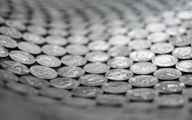 Обои центы, cent, монетки