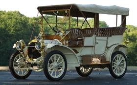 Обои ретро, автомобиль, эксклюзив, красивая машина, Packard, Model 18 Speedster, 1909 года