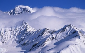 Обои Alaska, snow, mountain, cloud