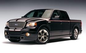 Обои чёрный, большой, ford, диски, пикап, f150, крутая тачка