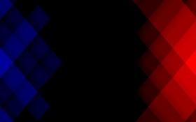 Обои квадрат, пиксель, синий, красный