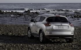 Обои море, пейзаж, Nissan, ниссан, juke