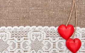 Обои любовь, сердце, love, кружево, heart, винтаж, romantic