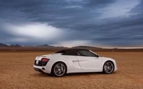 Картинка car, машина, небо, пустыня, sky, desert, 2012 Audi R8 GT Spyder
