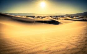Картинка песок, солнце, пейзаж, пустыня