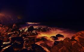 Картинка море, вода, камни, фото, океан, берег, побережье