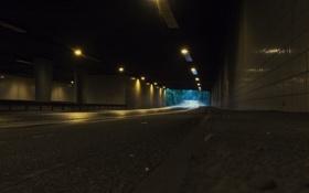 Обои Dark, Long, Tunnel