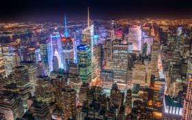 Обои город, Нью-Йорк, США, Манхэттен