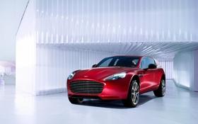 Картинка красный, Aston Martin, астон мартин, red, front, кроссовер, Aksyonov Nikita Andreevich