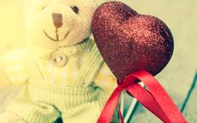 Картинка любовь, игрушка, сердце, мишка, love, heart, romantic
