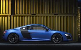 Обои Audi, Авто, Ауди, Синий, V10, Спорткар, Вид сбоку