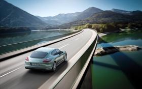 Обои дорога, путь, дороги, скорость, Porsche, тачки, тачка