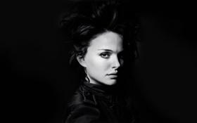 Картинка взгляд, лицо, волосы, портрет, актриса, Natalie Portman, Натали Портман