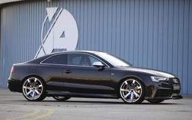 Обои Audi, Черный, Ауди, Машина, Купэ, Rieger, Вид сбоку