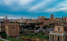 Картинка дома, Рим, Италия, развалины, руины, форум