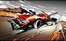 Обои арт, тачка, быстрая, сумасшедший водила, reactive car, energy drive