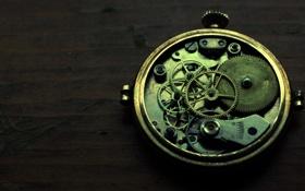 Картинка стол, часы, механизм, шестерёнки