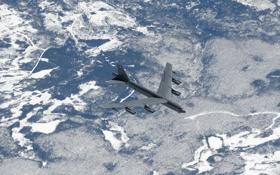 Обои полет, ландшафт, Boeing, бомбардировщик, стратегический, тяжёлый, Stratofortress