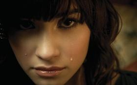 Картинка грусть, слёзы, Demi Lovato