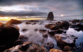 Обои камни, скалы, небо, море