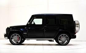 Картинка Mercedes-Benz, Черный, Тюнинг, Мерседес, Джип, Brabus, G63