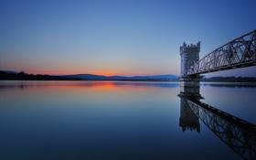 Обои озеро, рассвет, спокойствие, утро