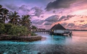 Обои nature, тропики, ocean, океан, island bungalows resort, бунгало, tropics