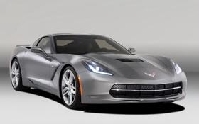 Обои car, машина, фон, Corvette, Chevrolet, передок, fon