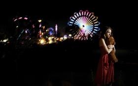 Картинка девушка, ночь, одиночество, настроение
