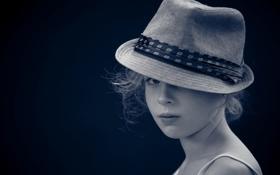 Картинка настроение, девочка, шляпка
