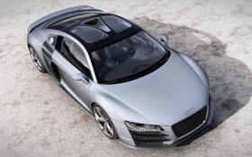 Картинка машины, Германия, Audi-R8-V12-TDI-Front-Angle