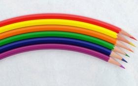 Обои цвет, карандаши, форма