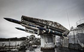 Обои оружие, корабль, ракеты