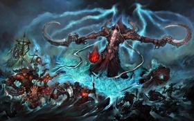 Обои Witch Doctor, тьма, Wizard, Demon Hunter, Barbarian, Malthael, Angel of Death