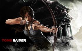Картинка девушка, лук, арт, Tomb Raider, Лара Крофт, Lara Croft