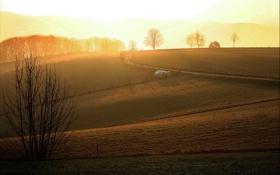 Обои пейзаж, природа, утро, заря
