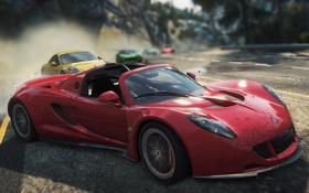 Обои гонка, погоня, спорткар, need for speed most wanted 2012, Venom GT Spyder