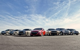Картинка небо, Додж, Dodge, Challenger, Charger, mixed, Durango